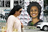 02.04.2018 - Homenagem para Marielle Franco na Rua da Consolação em SP