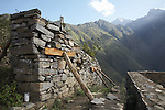 Remote Incan ruins of Choquequirao in the Peruvian Andes.  The majority of the ruins are still not excavated.