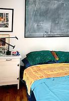 minimal wooden bedroom