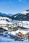 Austria, Vorarlberg, Kleinwalsertal, Riezlern: with Allgaeu Alps | Oesterreich, Vorarlberg, Kleinwalsertal, Riezlern: im Hintergrund die Allgaeuer Alpen