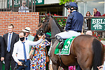 JULY 10, 2021: Santa Barbara (IRE), #5, ridden by Ryan Moore, wins the Gr.1 Belmont Oaks Invitational Stakes, for fillies & mares going 1 1/4 mile on the turf, at Belmont Park in Elmont, New York. Sue Kawczynski/Eclipse Sportswire/CSM