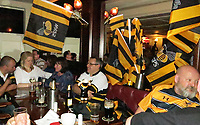 Photo: Richard Lane/Richard Lane Photography. Leinster Rugby v Wasps.  European Rugby Champions Cup Quarter Final. 31/03/2017. Wasps supporters at the Seasons Bar ahead of the game.
