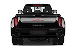 Straight rear view of 2020 GMC Sierra Denali 4 Door Pick-up Rear View  stock images