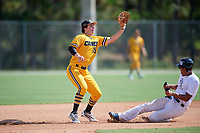 Jake Gelof (15) during the WWBA World Championship at the Roger Dean Complex on October 10, 2019 in Jupiter, Florida.  Jake Gelof attends IMG Academy in Bradenton, FL, is from Rehoboth Beach, DE and is committed to Virginia.  (Mike Janes/Four Seam Images)