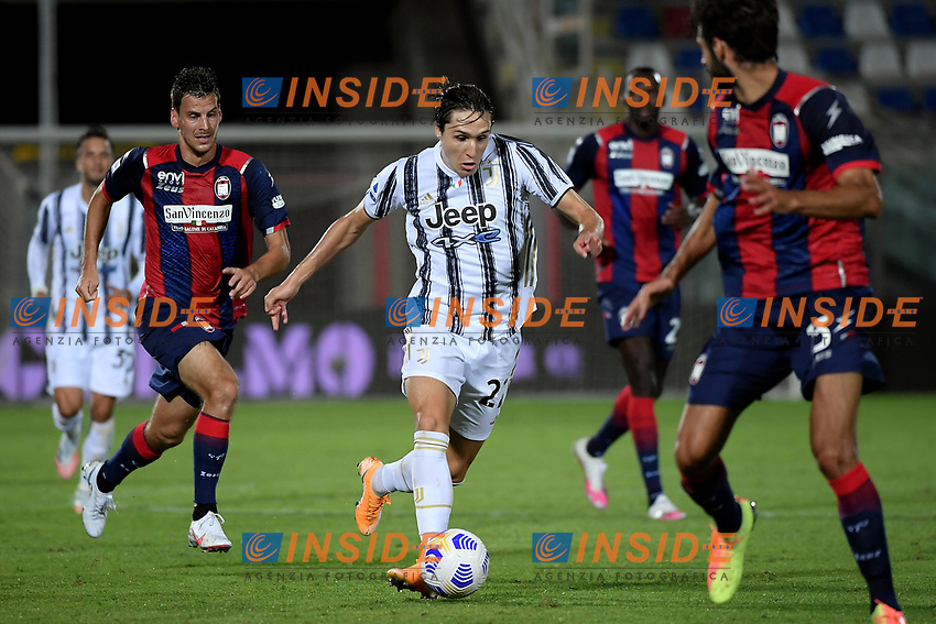 Enrico Chiesa of Juventus FC in action during the Serie A football match between FC Crotone and Juventus FC at stadio Ezio Scida in Crotone (Italy), October 17th, 2020. Photo Federico Tardito / Insidefoto