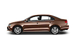 Car Driver side profile view of a 2017 Volkswagen Jetta S 4 Door Sedan Side View
