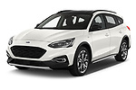 2019 Ford Focus-Clipper Active-Business 5 Door Wagon angular front stock photos of front three quarter view