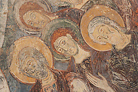 France, Saône-et-Loire (71), Berzé-la-Ville, chapelle des Moines, les fresques du choeur // France, Saône-et-Loire (71), Berzé-la-Ville, Chapel of Moines, the frescoes of the choir