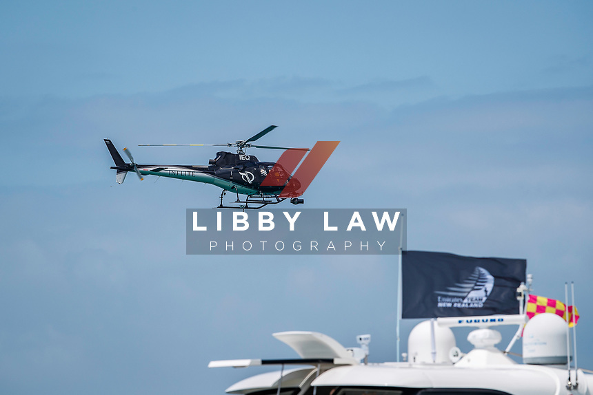 The on-water viewing for Emirates Team New Zealand VS INEOS TEAM UK in race 8 of the Round Robin competition of the PRADA America's Cup World Series in Auckland, New Zealand on Friday 18th December 2020. Copyright Photo: Libby Law Photography