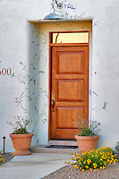 House door with decoration. Tucson. Arizona