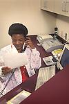 Medical Assistant at workdesk