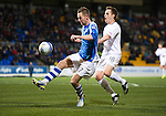 St Johnstone v Hibs..28.11.12      SPL.Steven MacLean and Alan Maybury.Picture by Graeme Hart..Copyright Perthshire Picture Agency.Tel: 01738 623350  Mobile: 07990 594431