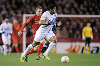 21.02.2013 Liverpool, England.Hulk of Zenit St Petersburg in action during the Europa League game between Liverpool and Zenit St Petersburg from Anfield.