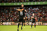 AC Milan Midfielder Hakan Calhanoglu (R) celebrating his goal with his teammates during the 2017 International Champions Cup China  match between FC Bayern and AC Milan at Universiade Sports Centre Stadium on July 22, 2017 in Shenzhen, China. Photo by Marcio Rodrigo Machado / Power Sport Images