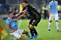Adam Marusic of SS Lazio , Giuseppe Pezzella of Parma <br /> Roma 22-9-2019 Stadio Olimpico <br /> Football Serie A 2019/2020 <br /> SS Lazio - Parma Calcio <br /> Foto Andrea Staccioli / Insidefoto