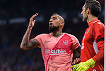 Arturo Vidal of FC Barcelona (L) gestures during the La Liga 2018-19 match between RDC Espanyol and FC Barcelona at Camp Nou on 08 December 2018 in Barcelona, Spain. Photo by Vicens Gimenez / Power Sport Images