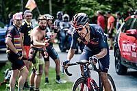 Daniel Felipe Martínez (COL/INEOS Grenadiers) up the final climb of the day; the Alpe di Mera (1560m)<br /> <br /> 104th Giro d'Italia 2021 (2.UWT)<br /> Stage 19 from Abbiategrasso to Alpe di Mera (Valsesia)(176km)<br /> <br /> ©kramon