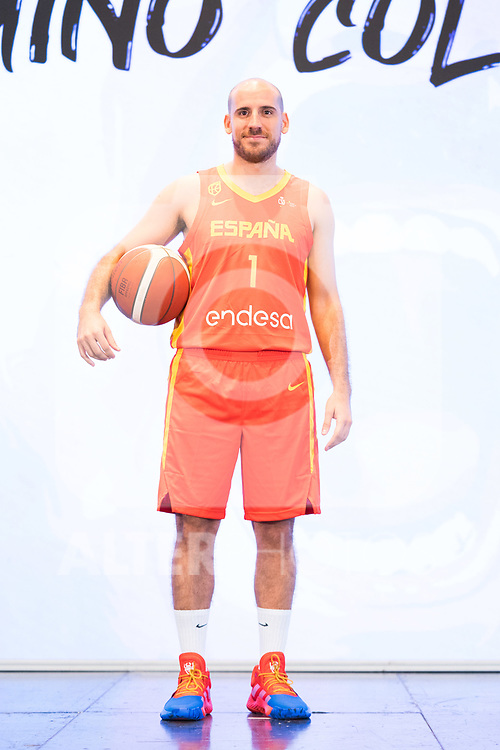 Player Quino Colom during the official presentation of Spanish National Team of Basketball.  July 24, 2019. (ALTERPHOTOS/Francis Gonzalez)