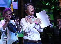 BOGOTÁ - COLOMBIA, 27-10-2019:Claudia López  alcalde de Bogotá.Jornada de elecciones para alcaldes y gobernadores en Colombia./Claudia López elected new mayor of Bogotá. Election day for mayors and governors in ColombiaPhoto: VizzorImage / Felipe Caicedo / Satff
