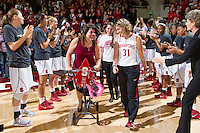Stanford's Toni Kojenis, after Stanford women's basketball  vs Washington State at Maples Pavilion, Stanford, California on March 1, 2014.