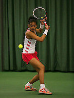 Rotterdam, The Netherlands, 15.03.2014. NOJK 14 and 18 years ,National Indoor Juniors Championships of 2014, Dalnah Cameron (NED)<br /> Photo:Tennisimages/Henk Koster
