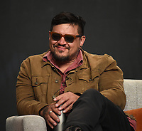"""BEVERLY HILLS, CA - AUGUST 4: Co-Creator/Writer/Director Sterlin Harjo attends the FX Networks 2021 Summer Television Critics Association session for """"Reservation Dogs"""" at the Beverly Hilton on August 4, 2021 in Beverly Hills, California. (Photo by Frank Micelotta/FX/PictureGroup)"""
