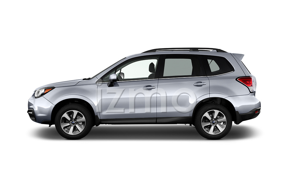 Car Driver side profile view of a 2017 Subaru Forester Comfort 5 Door Wagon Side View