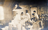 BNPS.co.uk (01202 558833)<br /> Pic: StroudAuctions/BNPS<br /> <br /> Pictured: Captain Theodore took unpublished photos of life on the frontline, including some taken inside an operating theatre.<br /> <br /> The poignant sketchbook of a World War One surgeon has been unearthed a century later.<br /> <br /> Captain Theodore Howard Somervell, of the Royal Medical Corps, treated hundreds of wounded Tommies in a field hospital at the Battle of the Somme. <br /> <br /> He was one of just four surgeons working flat-out in a tent, as scores of casualties lay dying on stretchers outside on the bloodiest in British military history.<br /> <br /> There is a sombre pencil sketch of a soldier on the operating table surrounded by a nurse and doctors. Another watercolour shows the bodies of soldiers strewn on a boggy Western Front battlefield.<br /> <br /> Capt Somervell, who was Mentioned In Despatches, drew landmarks including churches which were reduced to rubble in the deadly barrage. He also took rare photos of life on the frontline, including some taken inside an operating theatre. His sketchbook is being sold by a direct descendant with Stroud Auctions, of Gloucs.