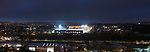 A twilight view of Valley Parade Bradford. Bradford City 2 Exeter City 2, Valley Parade, 14th November 2020. A game played behind closed doors due to Covid restrictions.