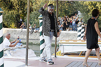 Vasco Rossi arrives at the Darsena to attend the 72nd Venice Film Festival at the Excelsior Hotel in Venice, Italy, September 11, 2015.<br /> UPDATE IMAGES PRESS/Stephen Richie