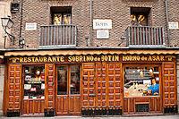Botín Restaurant, Madrid, Spain . Oldest restaurant in the world, 1725.