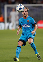Calcio, Champions League, Gruppo E: Roma vs Barcellona. Roma, stadio Olimpico, 16 settembre 2015.<br /> FC Barcelona's Ivan Rakitic in action during a Champions League, Group E football match between Roma and FC Barcelona, at Rome's Olympic stadium, 16 September 2015.<br /> UPDATE IMAGES PRESS/Isabella Bonotto<br /> <br /> *** ITALY AND GERMANY OUT ***
