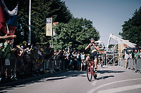 Adrien Petit (FRA/Direct Energie) finishes 5th (after Peter Sagan was later disqualified/thrown out of the TdF because of irregular sprinting)<br /> <br /> 104th Tour de France 2017<br /> Stage 4 - Mondorf-les-Bains › Vittel (203km)