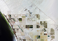 historical aerial photograph of Salton Sea, Niland, Imperial County, California