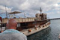 - gathering of vintage pleasure craft and yacht, Over the Rainbow, property of French painter Jean Michel Folon ....- raduno barche da diporto e yacht d'epoca, Over the Rainbow, di propriet? del pittore francese Jean Michel Folon
