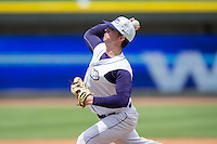 Winston-Salem Dash starting pitcher Thaddius Lowry (24) in action against the Wilmington Blue Rocks at BB&T Ballpark on June 26, 2016 in Winston-Salem, North Carolina.  The Dash defeated the Blue Rocks 5-1.  (Brian Westerholt/Four Seam Images)
