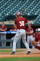Donovan Casey (30) of the Boston College Eagles at bat against the North Carolina State Wolfpack in Game Two of the 2017 ACC Baseball Championship at Louisville Slugger Field on May 23, 2017 in Louisville, Kentucky. The Wolfpack defeated the Eagles 6-1. (Brian Westerholt/Four Seam Images)