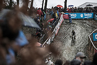 World Champion Wout Van Aert (BEL/Crelan Charles) chasing.<br /> <br /> Men's Elite Race<br /> GP Sven Nys 2018