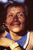 Xingu, Brazil. Bep Djaui, an elder from the Xicrin Kayapo village of Catete.