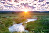 Sunrise with Prairie Creek. Wallow County, Oregon