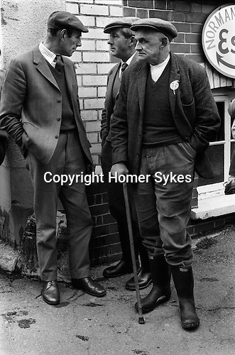 Farmers Hatherleigh Devon market day. 1973 1970s UK
