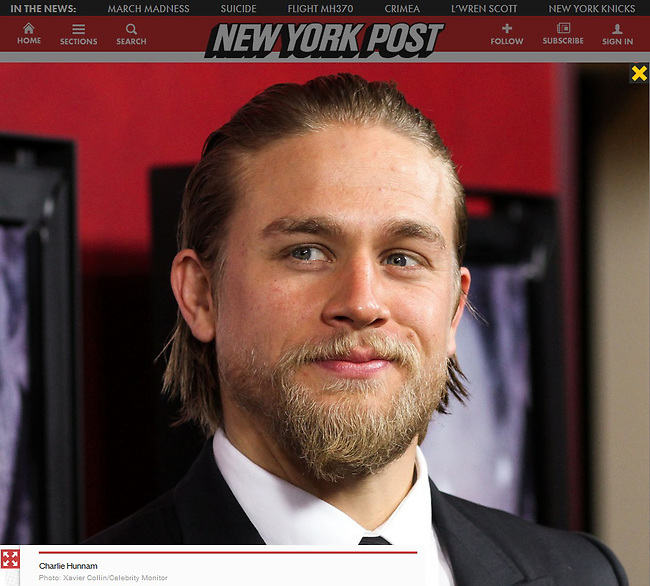 """[(FILE) Actor Charlie Hunnam has dropped out of the lead role of character Christian Grey in the """"Fifty Shades of Grey"""" (2014) film adaptation. """"The filmmakers of 'Fifty Shades of Grey' and Charlie Hunnam have agreed to find another male lead given Hunnam's immersive TV schedule which is not allowing him time to adequately prepare for the role of Christian Grey,"""" Universal Pictures said in a statement, obtained by The Hollywood Reporter.] HOLLYWOOD, CA - NOVEMBER 29: Actor Charlie Hunnam arrives at the 'Deadfall' Los Angeles premiere at ArcLight Hollywood on November 29, 2012 in Hollywood, California. (Photo by Xavier Collin/Celebrity Monitor)"""