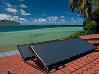 Solar roof top panels overlooking Kaneohe Bay