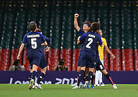 August 03, 2012 - Japan's Yuki Ogimi of JPN celebrates after scoring in the first half of Group F match between JPN and BRA at the Millennium Stadium. .