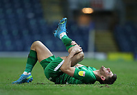 12th February 2021; Ewood Park, Blackburn, Lancashire, England; English Football League Championship Football, Blackburn Rovers versus Preston North End; Ched Evans of Preston North End reacts after being fouled on his way to goal