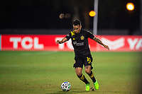 LAKE BUENA VISTA, FL - JULY 16: Lucas Zelarayan #10 of the Columbus Crew SC dribbles the ball during a game between New York Red Bulls and Columbus Crew at Wide World of Sports on July 16, 2020 in Lake Buena Vista, Florida.