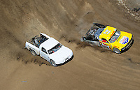 Jun. 26, 2010; Tooele, UT USA; LOORRS pro four unlimited driver Rob MacCachren (right) leads Eric Barron during qualifying for round seven at Miller Motorsports Park. Mandatory Credit: Mark J. Rebilas-