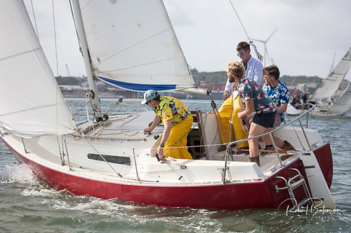 Younger sailors have been featuring more in South Coast racing including George Radley Jnr and crew on Creamy Beam, a vintage Sadler 25, competing in the 2020 Cobh to Blackrock Race