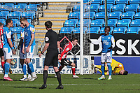 Peterborough players look dejected after Sunderland's Aiden McGeady scores the equalising goal during Peterborough United vs Sunderland AFC, Sky Bet EFL League 1 Football at London Road on 5th April 2021