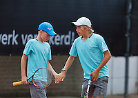 August 9, 2014, Netherlands, Rotterdam, TV Victoria, Tennis, National Junior Championships, NJK, boys doubles <br /> Photo: Tennisimages/Henk Koster